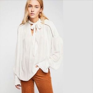Free People | Wishful Moments Ivory Blouse Top XS